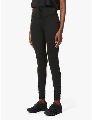 Michi Nero corset high-rise stretch-jersey leggings