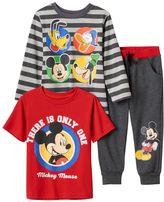 Disney Disney's Mickey Mouse, Donald Duck, Goofy & Pluto Toddler Boy Tees & Pants Set