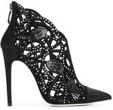 Loriblu rhinestone cut-out ankle boots