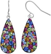 Confetti Crystal Teardrop Earrings