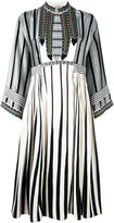 Etro striped boho dress - women - Silk/Cotton - 40