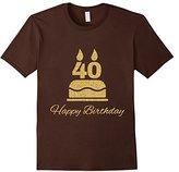 Men's 40th Birthday T-Shirt Happy Birthday Tee Gift XL