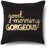 Xhilaration Good Morning Gorgeous! Decorative Pillow - Navy/Gold (Square