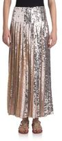 Emilio Pucci Long Pleated Sequin Skirt