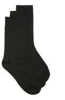Nine West Ribbed Womens Crew Socks - 3 Pack
