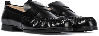 Tod's Gathered leather loafers