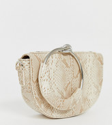 My Accessories London Exclusive half moon clutch bag with ring handle