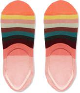 Paul Smith - Striped Stretch Cotton-Blend No-Show Socks