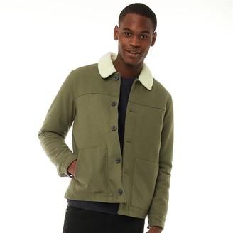 Farah Mens Dunkeld Borg Collar Jacket Vintage Green