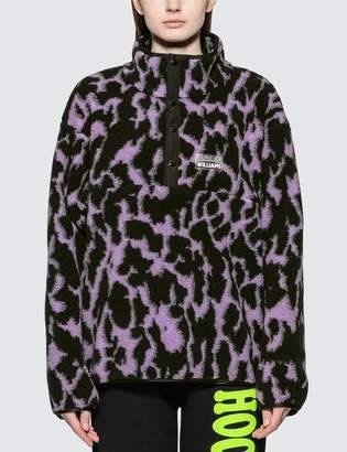 JuJu Ashley Williams Animal Print Fleece Pullover Jacket