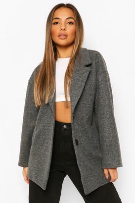 boohoo Petite Wool Look Coat