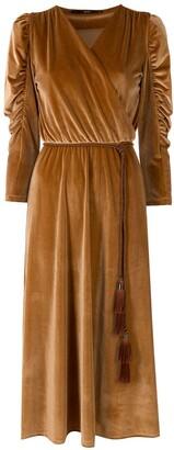 Eva Wrap Style Midi Dress