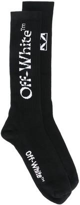 Off-White Logo-Jacquard Mid-Length Socks