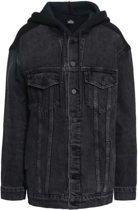 Alexander Wang Fleece-paneled Denim Hooded Jacket