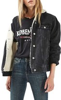 Topshop Moto Borg Lined Denim Jacket