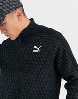 Puma repeat logo track jacket in black