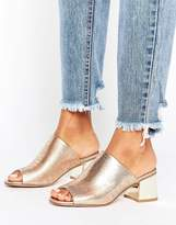 New Look Metallic Low Heeled Mule