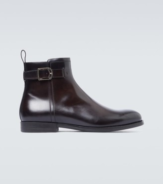 Santoni Leather ankle boots