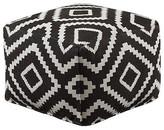 Black & White Geometric Ottoman