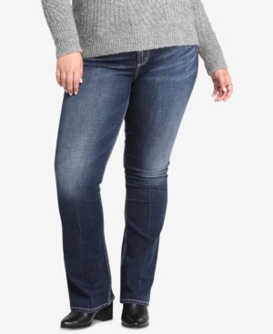 Silver Jeans Co. Co Plus Size Avery High-Rise Curvy-Fit Boot-Cut Jeans