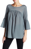 French Connection Polly Plains Ruffle Sleeve Blouse
