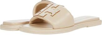 Tory Burch Double T Sport Slide (Perfect Black/Gold) Women's Shoes