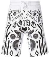 Marcelo Burlon County of Milan multiple prints sweat shorts