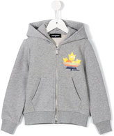 DSQUARED2 zip-up hoodie - kids - Cotton - 8 yrs