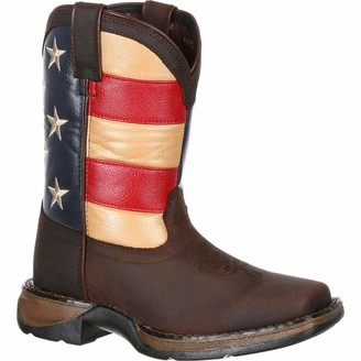 Durango Unisex DBT0160 Western Boot Brown and Union Flag 3.5 M US Big Kid