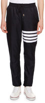 Thom Browne 4-Bar Striped Track Pants, Navy