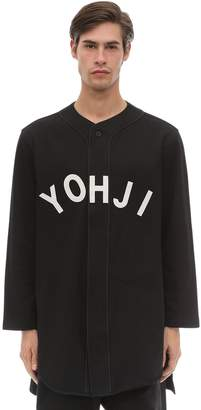 Y-3 Y 3 Yohji Letters Cotton Baseball Shirt