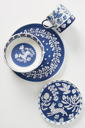 Anthropologie Pallu Dinner Plates, Set of 4 By in Blue Size S/4 dinner