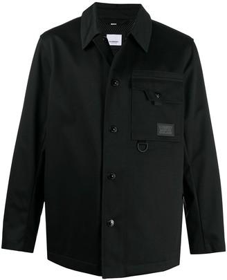 Burberry Logo Patch Shirt Jacket