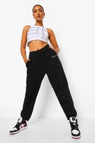 Thumbnail for your product : boohoo Oversized Embroidered Woman Script Joggers