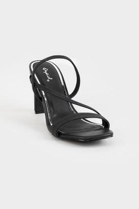 Qupid Kaylee Elastic Strap Heels - Black