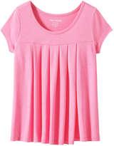 Joe Fresh Kid Girls' All Over Pleat Top, Light Neon Pink (Size L)