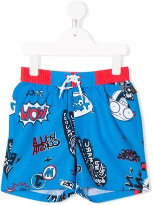 Little Marc Jacobs Comic Print Swim Shorts