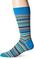 Bugatchi Men's Fancy Stripe Fancy Sock