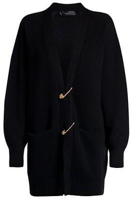 Versace Safety Pin Wool Cardigan