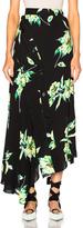 Proenza Schouler Printed Crepe Georgette Asymmetric Skirt