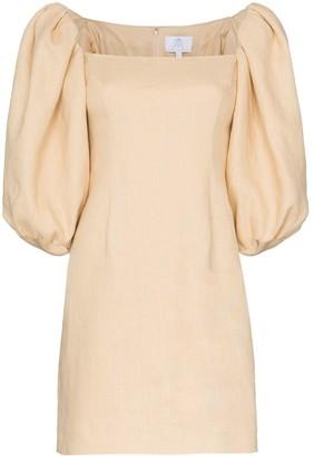 Rebecca De Ravenel Puff Sleeve Dress