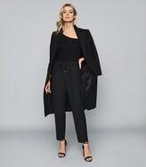 Reiss Stevie - Asymmetric Neckline Bodysuit in Black