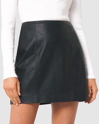 Forever New Peyton Seamed PU Mini Skirt