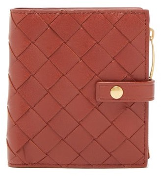 Bottega Veneta Intrecciato Leather Wallet - Womens - Walnut