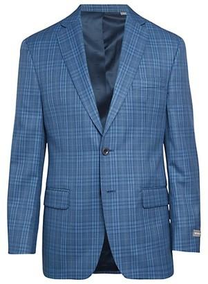 Michael Kors Classic-Fit Stretch Plaid Jacket