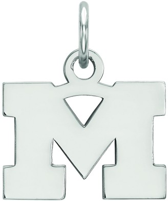 LogoArt Sterling Silver Michigan Wolverines Pendant