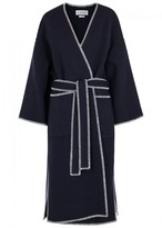 Loewe Navy Wool And Cashmere Blend Coat