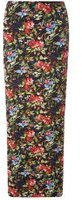 Dorothy Perkins Womens Black Floral Maxi Skirt- Fl Multi