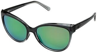 Maui Jim 'Olu 'Olu (Translucent Dark Chocolate/Blue/Neutral Grey) Fashion Sunglasses