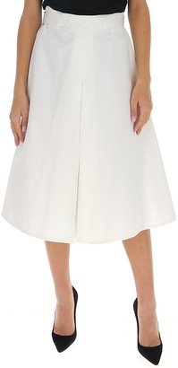 Marni Belted A-Line Midi Skirt
